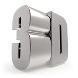 3D metalu znak Obrazy Stock