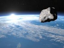 3D meteoriet - geef terug Royalty-vrije Stock Fotografie
