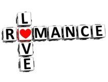 3D miłości Crossword Romansowy tekst Obraz Stock