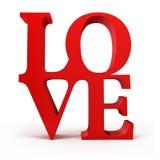 3d miłości czerwony tekst Fotografia Royalty Free