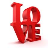 3d miłości czerwony tekst Obrazy Royalty Free