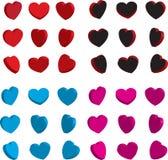 3D miłości serca dla walentynka dnia wektoru ilustracja wektor