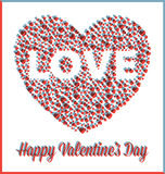 3D miłości walentynek dnia serce Zdjęcia Stock