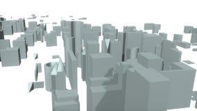 3d miasto tworzy od dna ilustracja wektor