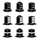 3d milestone black symbols Stock Photo
