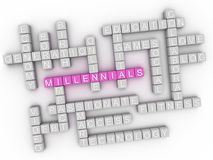 3d Millennials Concept word cloud Royalty Free Stock Photo