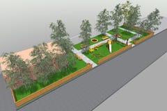 3D mini park w Armenia Obraz Royalty Free