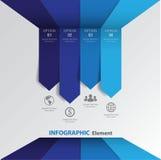 3d Minimal infographics arrow. Vector/illustration. Stock Photography