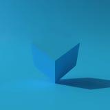 3d minimale het ontwerpachtergrond van de illustratie Abstracte Doos Royalty-vrije Stock Afbeeldingen