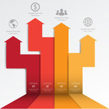 3d Minimalny infographics wektor Obraz Stock