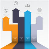 3d Minimalny infographics wektor Fotografia Stock