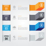 3d Minimalny infographics wektor Fotografia Royalty Free