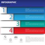 3d Minimalny infographics wektor Obrazy Royalty Free