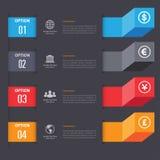3d Minimalny infographics wektor Zdjęcia Royalty Free