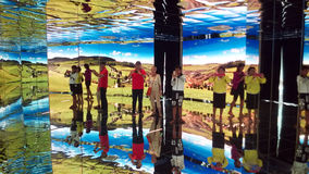 4d mirrors room Royalty Free Stock Images