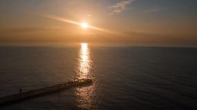 D?mmerung auf dem Meer E E r lizenzfreie stockfotografie