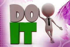 3d mn do it illustration Stock Photography