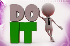 3d mn do it illustration Royalty Free Stock Image