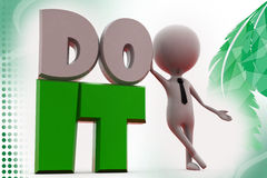 3d mn do it illustration Stock Image
