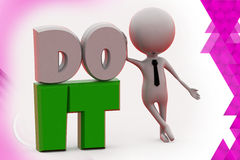 3d mn do it illustration Stock Photo