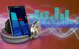 3d mobiel telefoonspectrum Royalty-vrije Stock Afbeelding