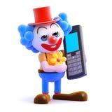 3d mobiele Clown Stock Foto's