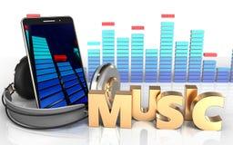 3d mobiele teken van de telefoonmuziek Royalty-vrije Stock Fotografie