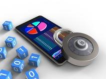 3D mobiele telefoon Stock Afbeelding