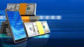 3D mobiele telefoon Stock Foto