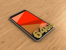 3D mobiele telefoon Royalty-vrije Stock Foto