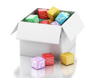 3d Mobile applications software in white box. Royalty Free Stock Photo