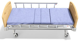 3d mobile hospital bed with recliner. 3d detailed mobile hospital bed with recliner on white background Stock Image