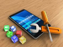 3d mobile phone Royalty Free Stock Images
