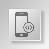 3D Mobility Apps icon Business Concept. 3D Symbol Gray Square Mobility Apps icon Business Concept Royalty Free Stock Photo
