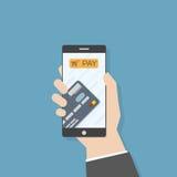 3d mobilny płatniczy telefon odpłaca się Obraz Royalty Free