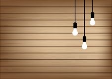 3D Mock up Realistic Wood and Lamp Light Background Illustration. Vector vector illustration