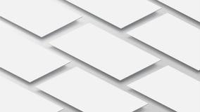 3D Mockup app mobilny interfejs Pustego miejsca app ekran Horyzontalny 9:16 aspekta współczynnik w białym koloru brzmieniu tworzy ilustracja wektor