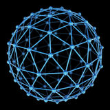 3d model of abstract sphere on black background Stock Photo