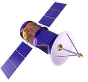 3D model of an artificial satellite of the Earth Royalty Free Stock Images