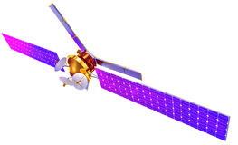3D model of an artificial satellite of the Earth Royalty Free Stock Photo