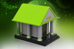3d model of bank. In color background Stock Image