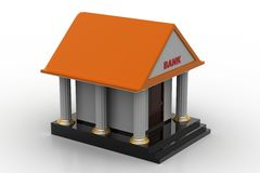 3d model of bank. In white background Stock Image