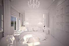Bedroom  interior design B&W Stock Image