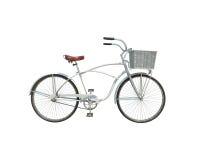3d model biały retro bicykl odizolowywający na białym tle Zdjęcia Stock