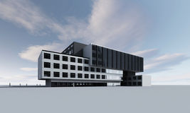 3D model of building. A 3D model of a modern building Royalty Free Stock Image