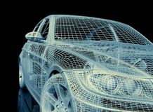 3d model cars Royalty Free Stock Image