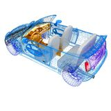 3d model cars Stock Photography