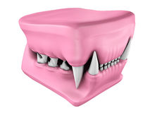 3d model of cat teeth cast. Stock Image