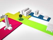 3D Model city Stock Images