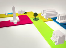 3D Model city Royalty Free Stock Images
